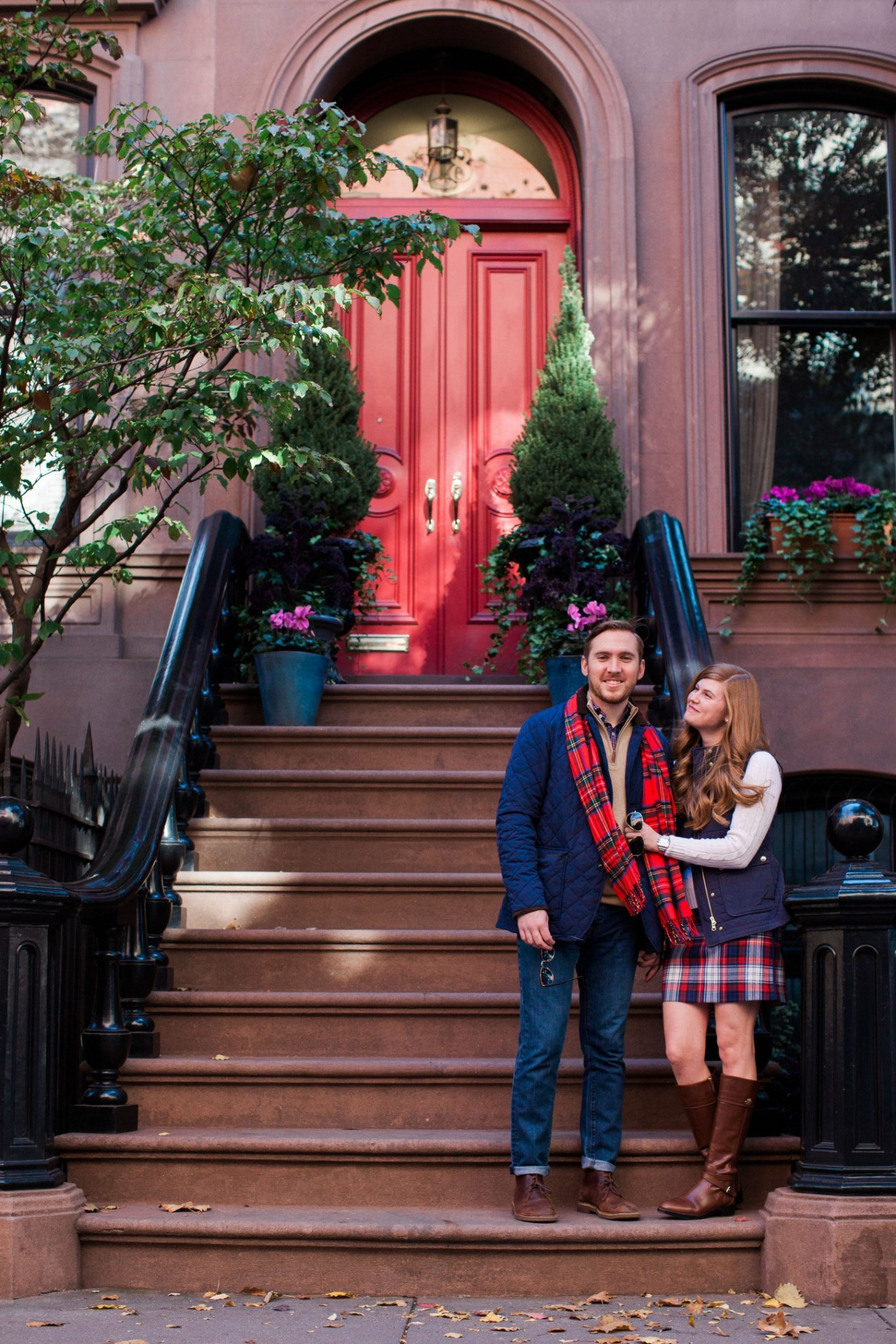 Lifestyle blogger Mollie Sheperdson shares a his and hers Vineyard Vines holiday look