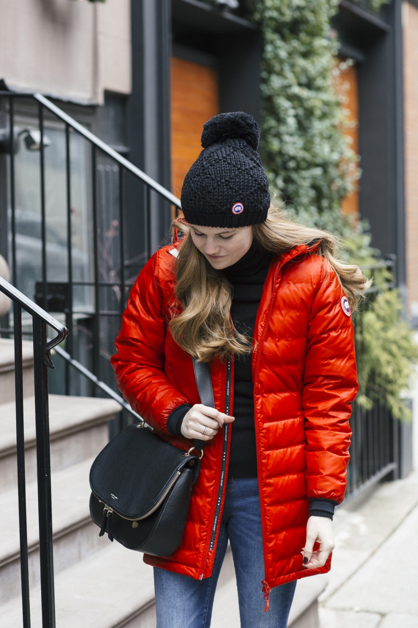 Lifestyle blogger Mollie Sheperdson wearing the Canada Goose Camp Down Parka