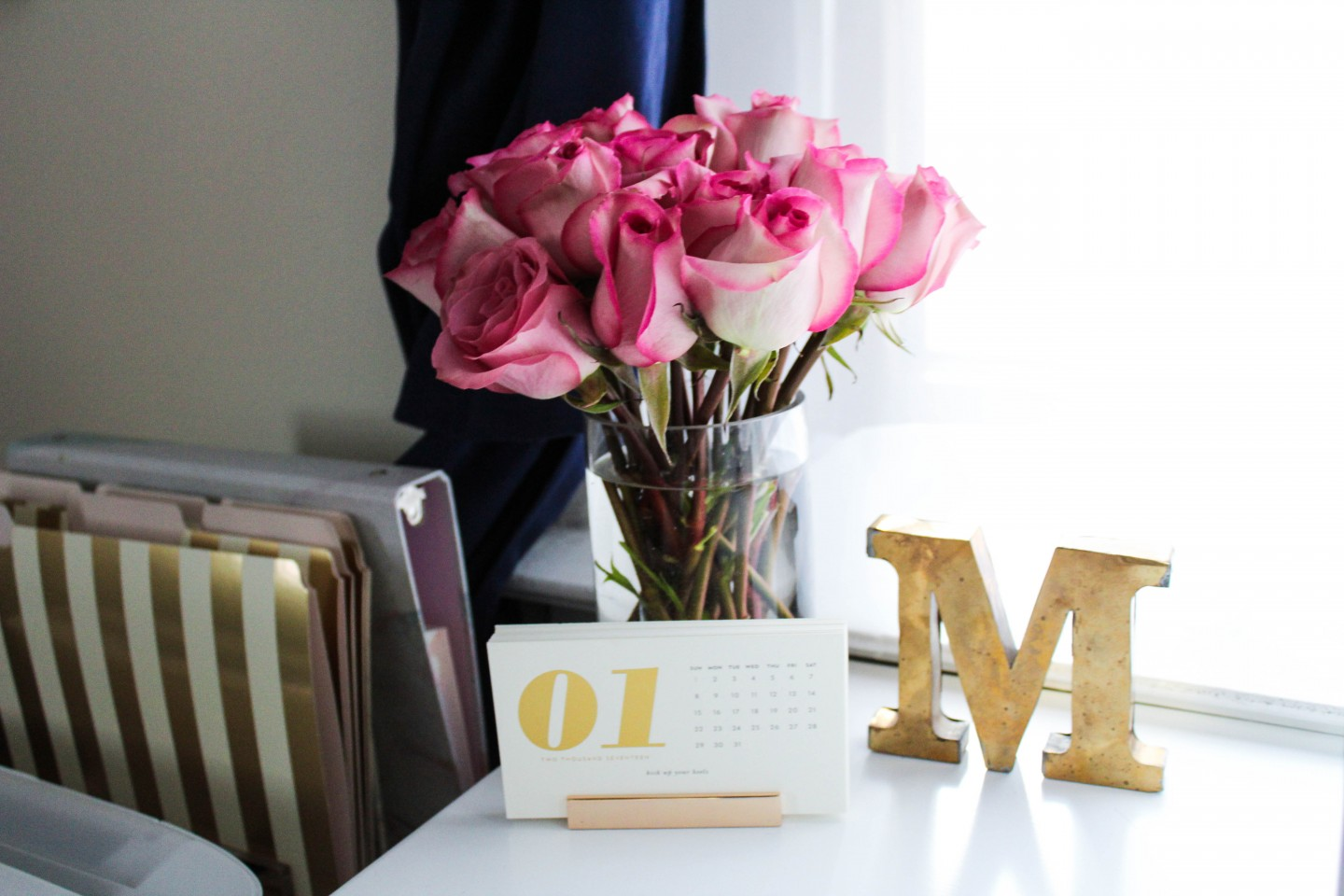 Lifestyle blogger Mollie Sheperdson shares a look at her new home office space