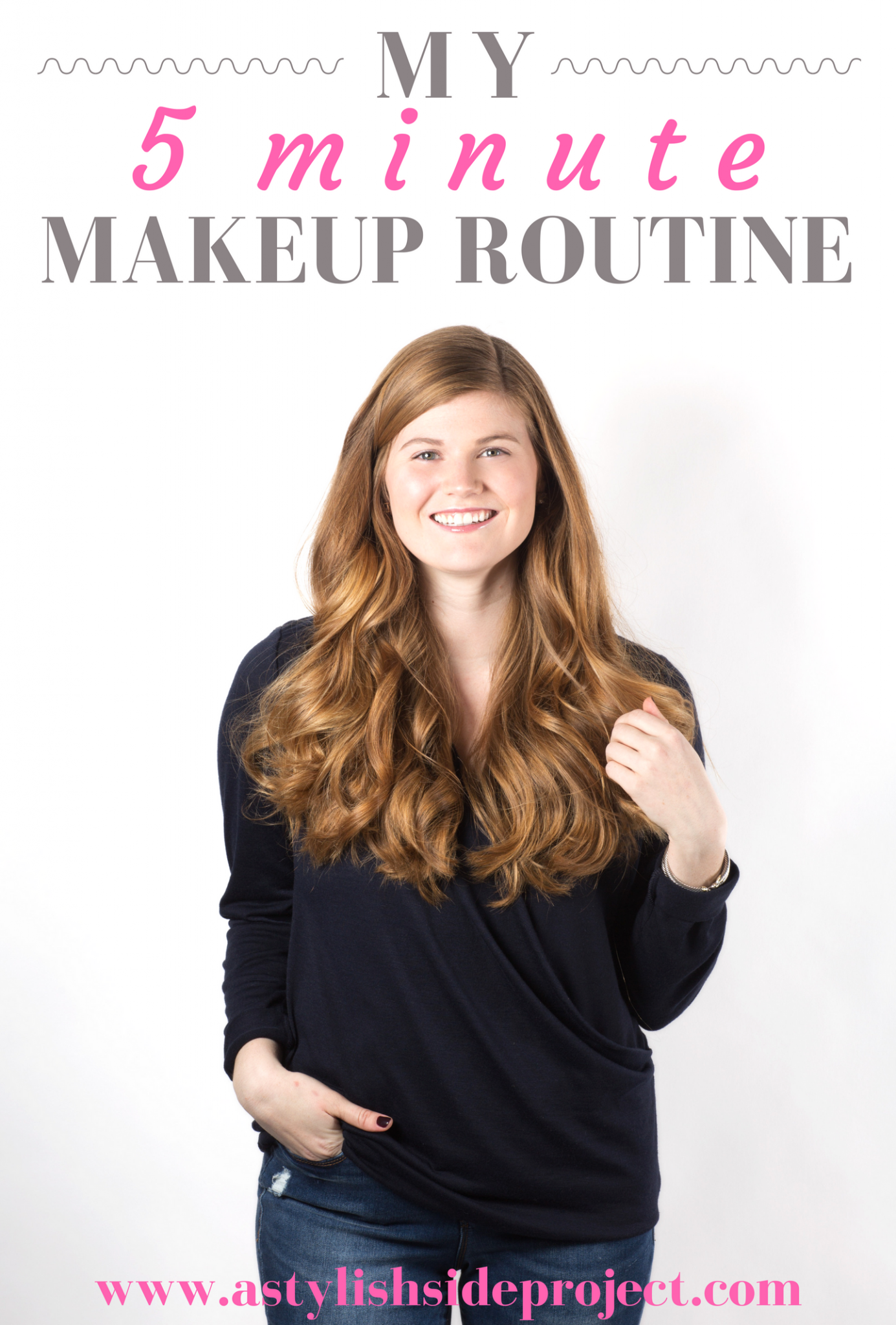 Lifestyle blogger Mollie Sheperdson shares her 5 minute everyday makeup routine