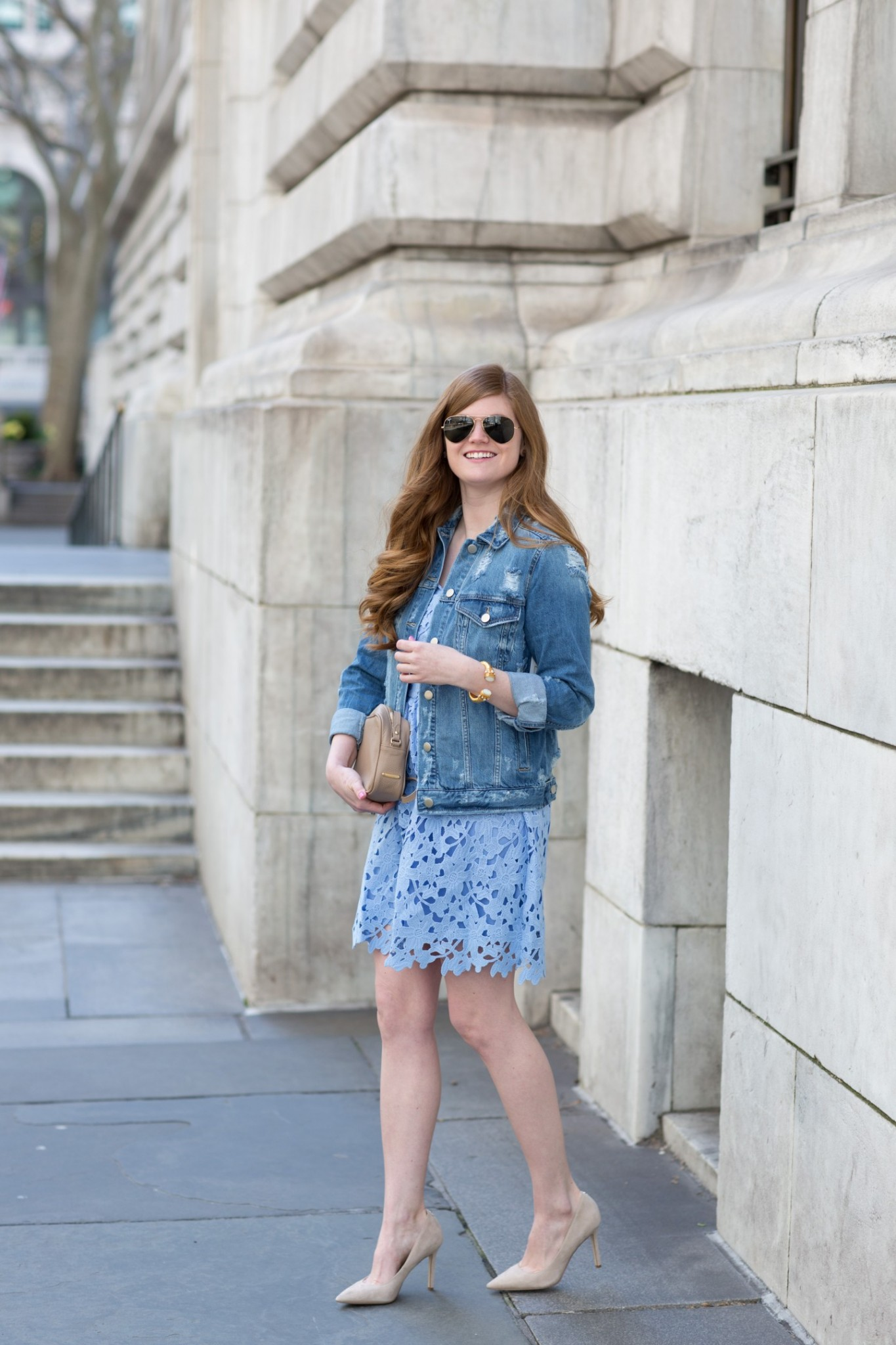 Lifestyle blogger Mollie Sheperdson shares an Easter outfit idea