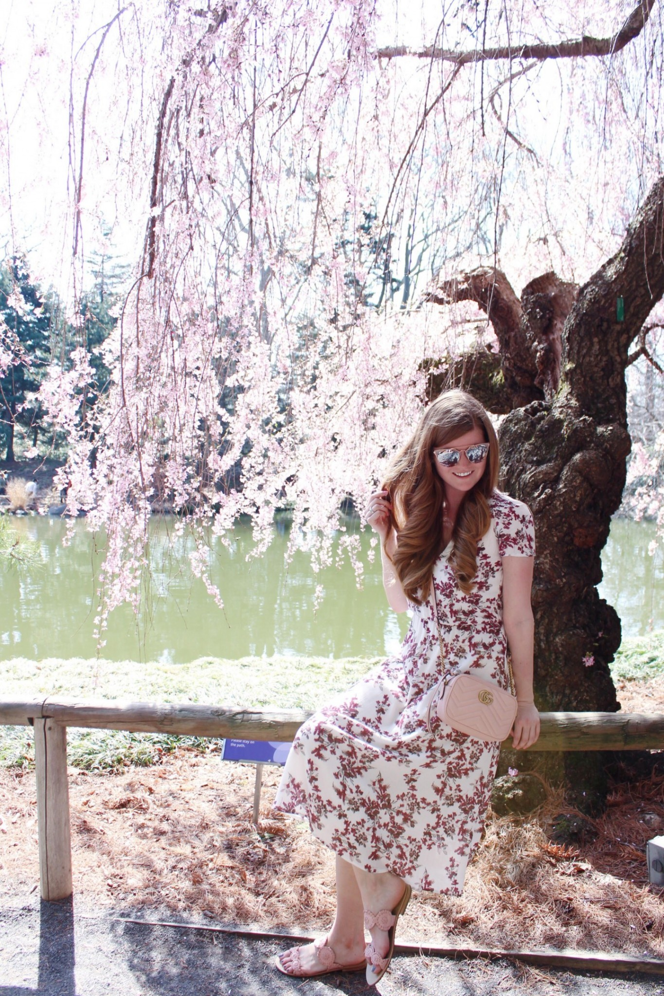 Lifestyle blogger Mollie Sheperdson goes to the Brooklyn Botanical Gardens