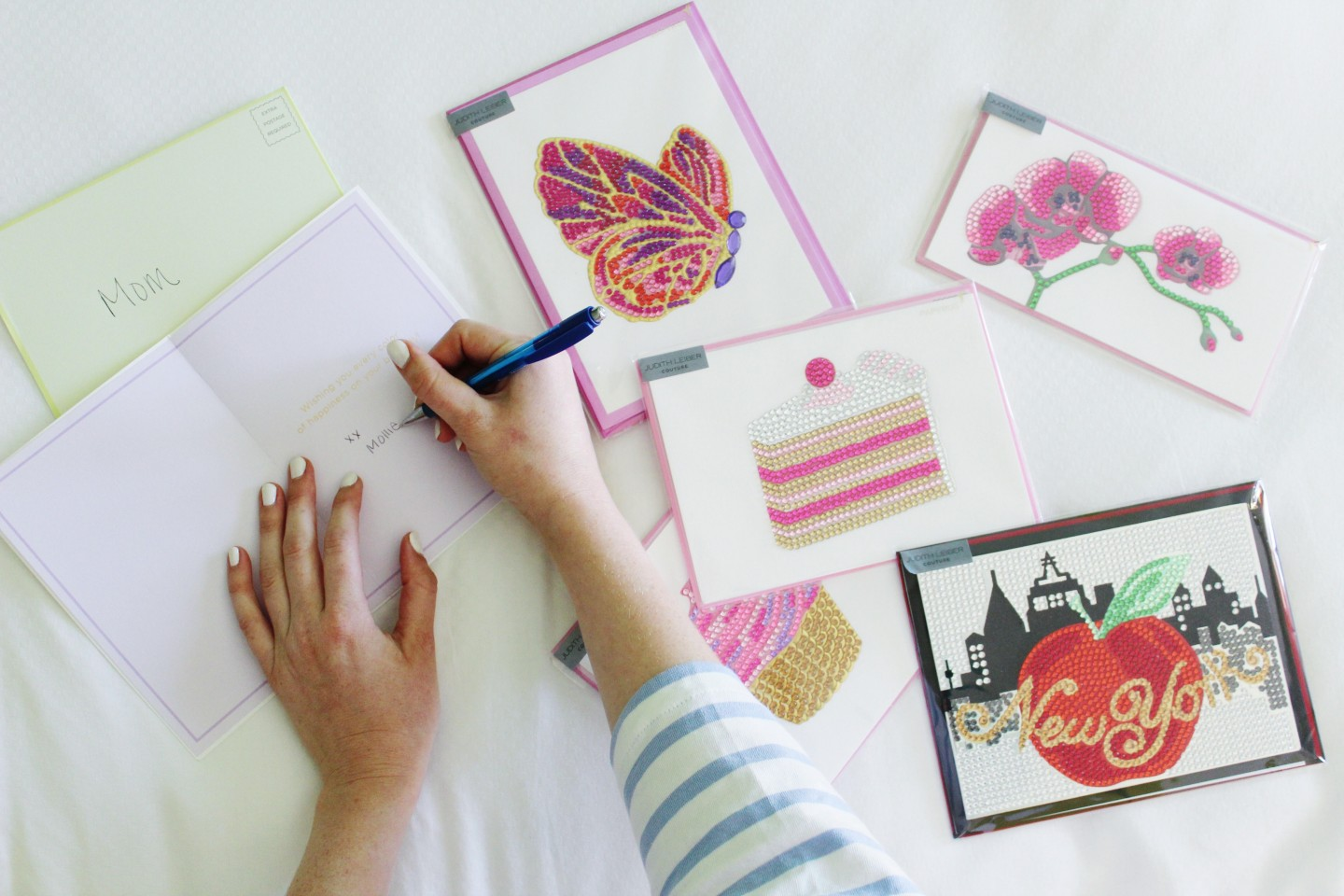 Lifestyle blogger Mollie Sheperdson shares the new Papyrus x Judith Leiber cards