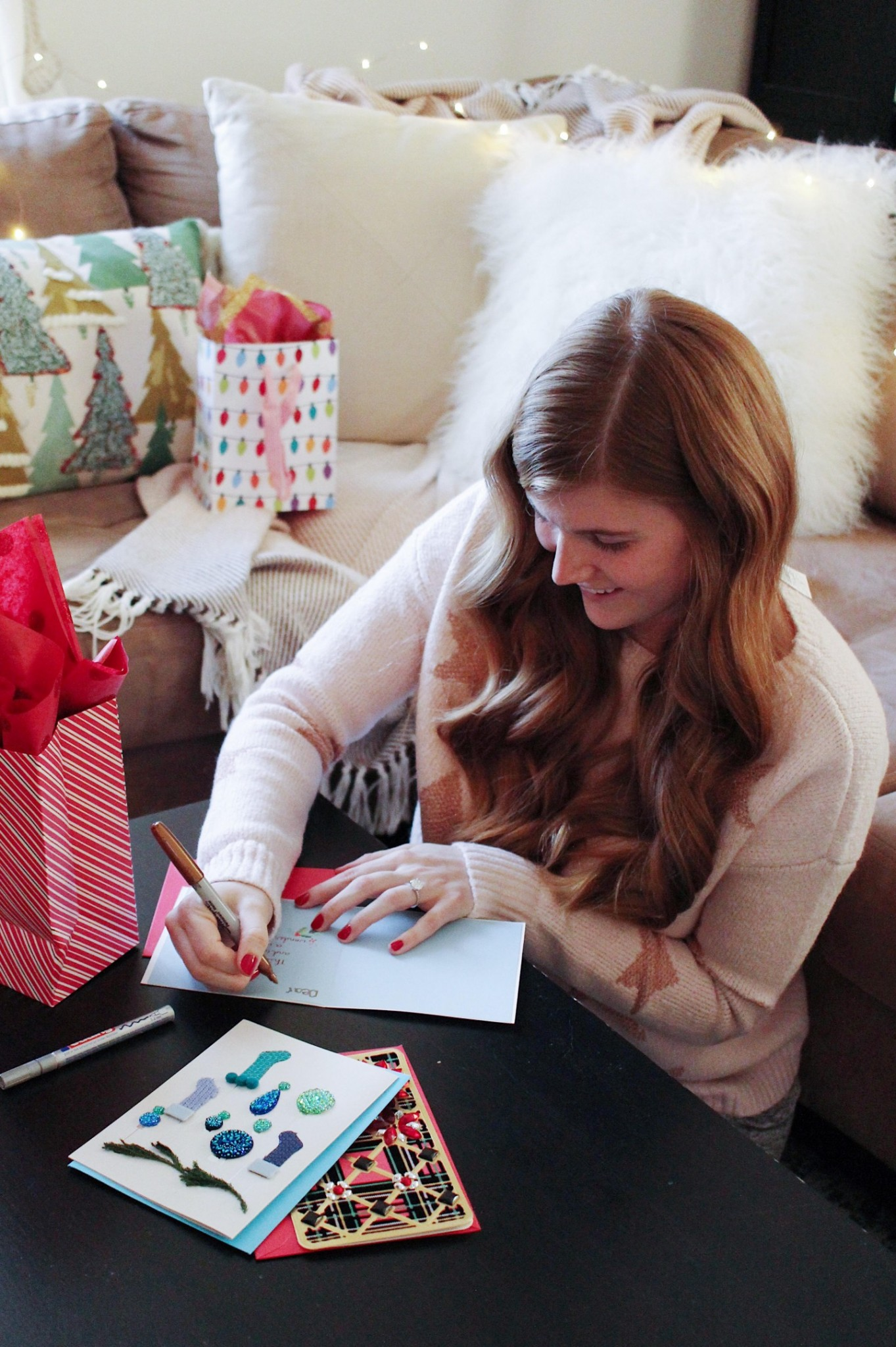 lifestyle blogger mollie moore shares holiday cards with papyrus - Papyrus Holiday Cards