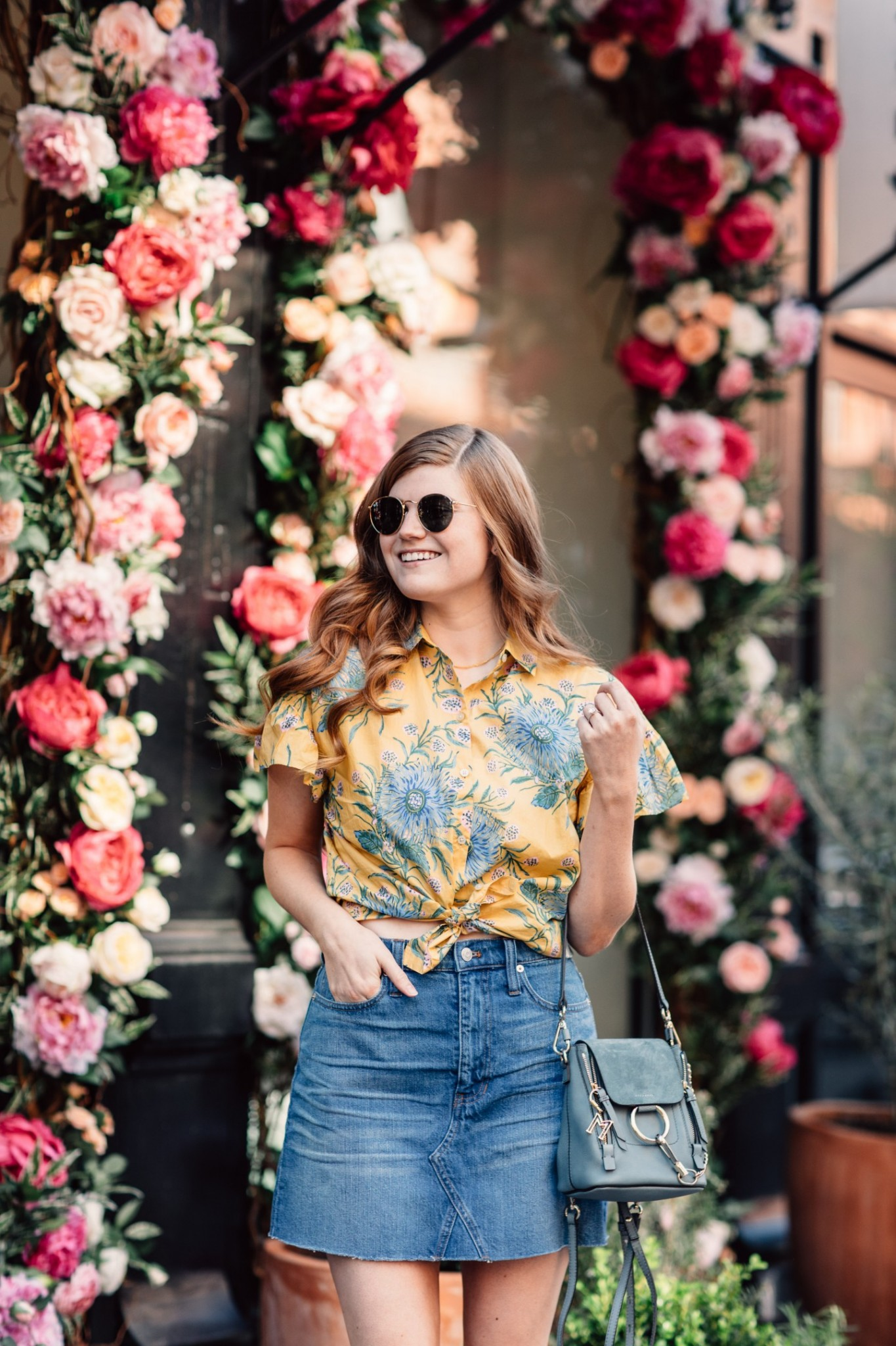 Lifestyle blogger Mollie Moore shares why you need a denim skirt this season