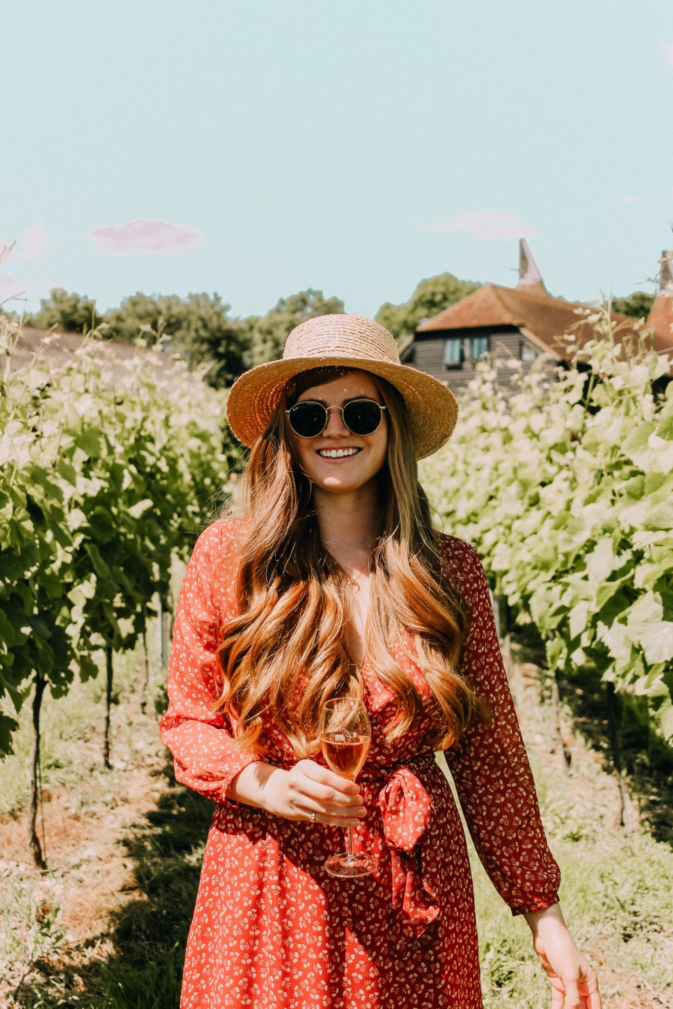 Lifestyle blogger Mollie Moore shares photos from a trip to Squerryes Vineyard in Kent