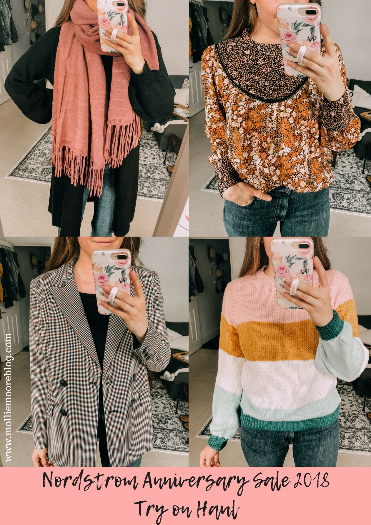 Lifestyle blogger Mollie Moore shares her Nordstrom Anniversary 2018 Try on Haul