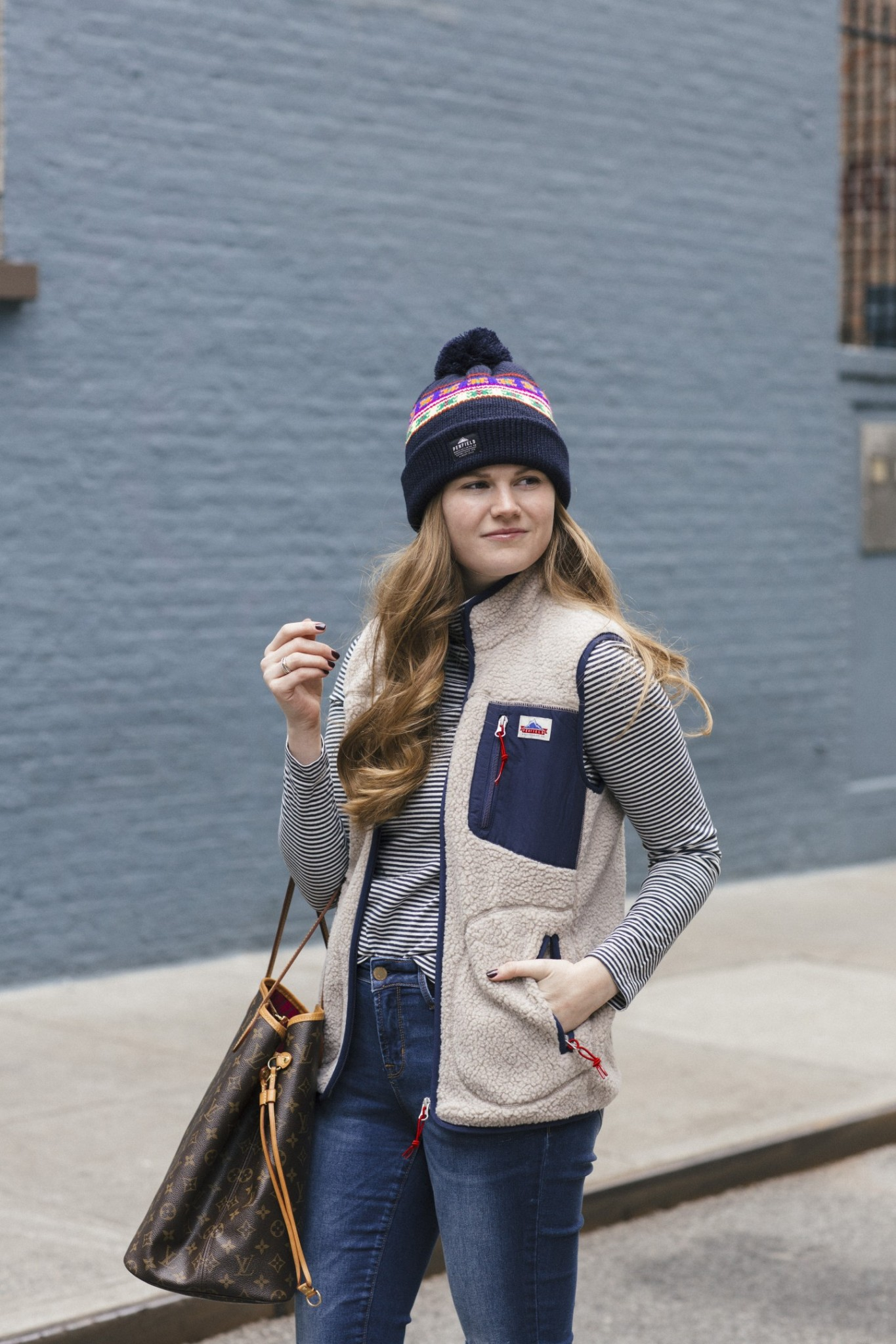 Lifestyle blogger Mollie Sheperdson shares her favorite Penfield Lucan vest