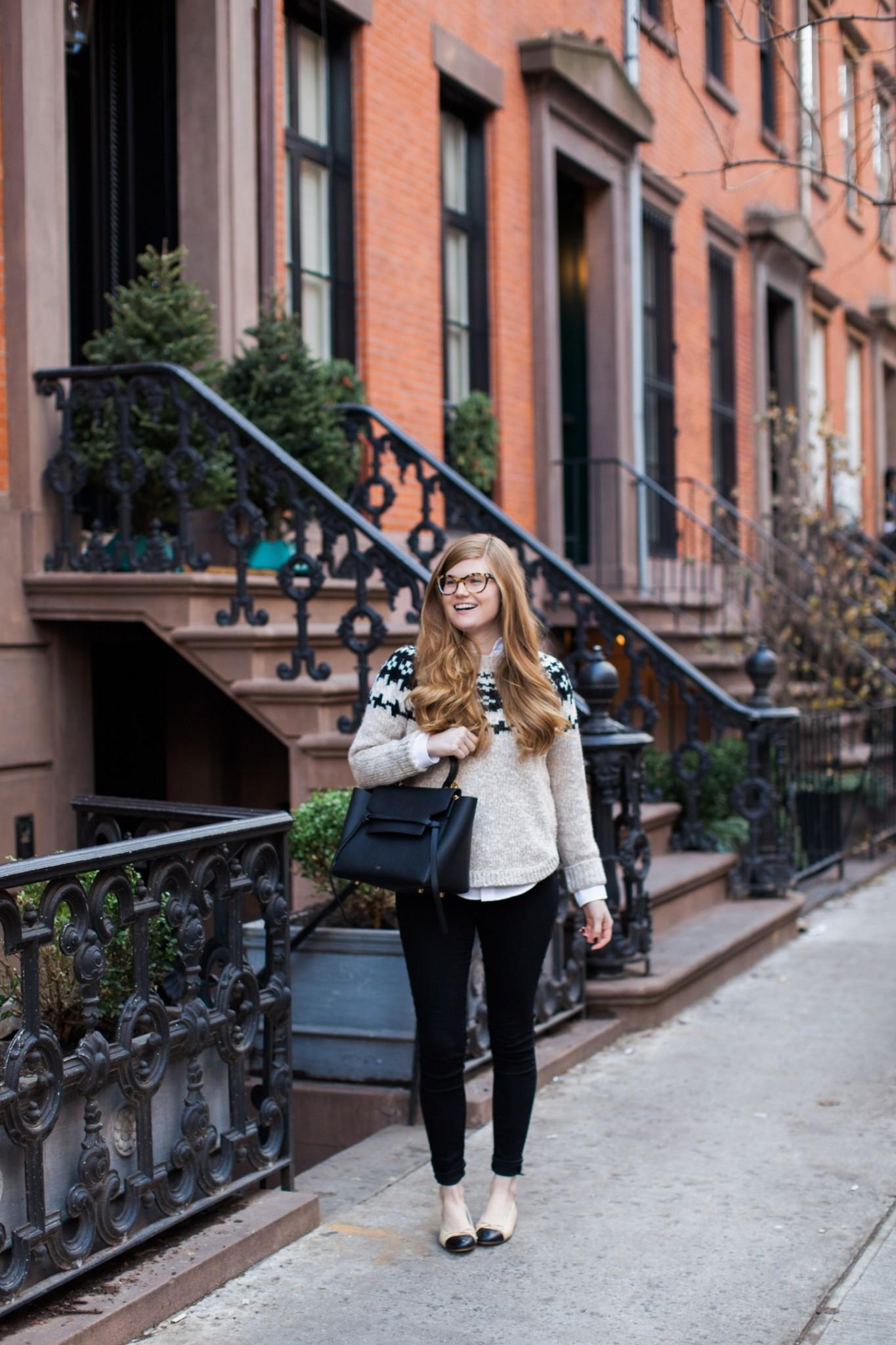 Top London fashion blogger,  Mollie Moore shares her new Havana Prada glasses