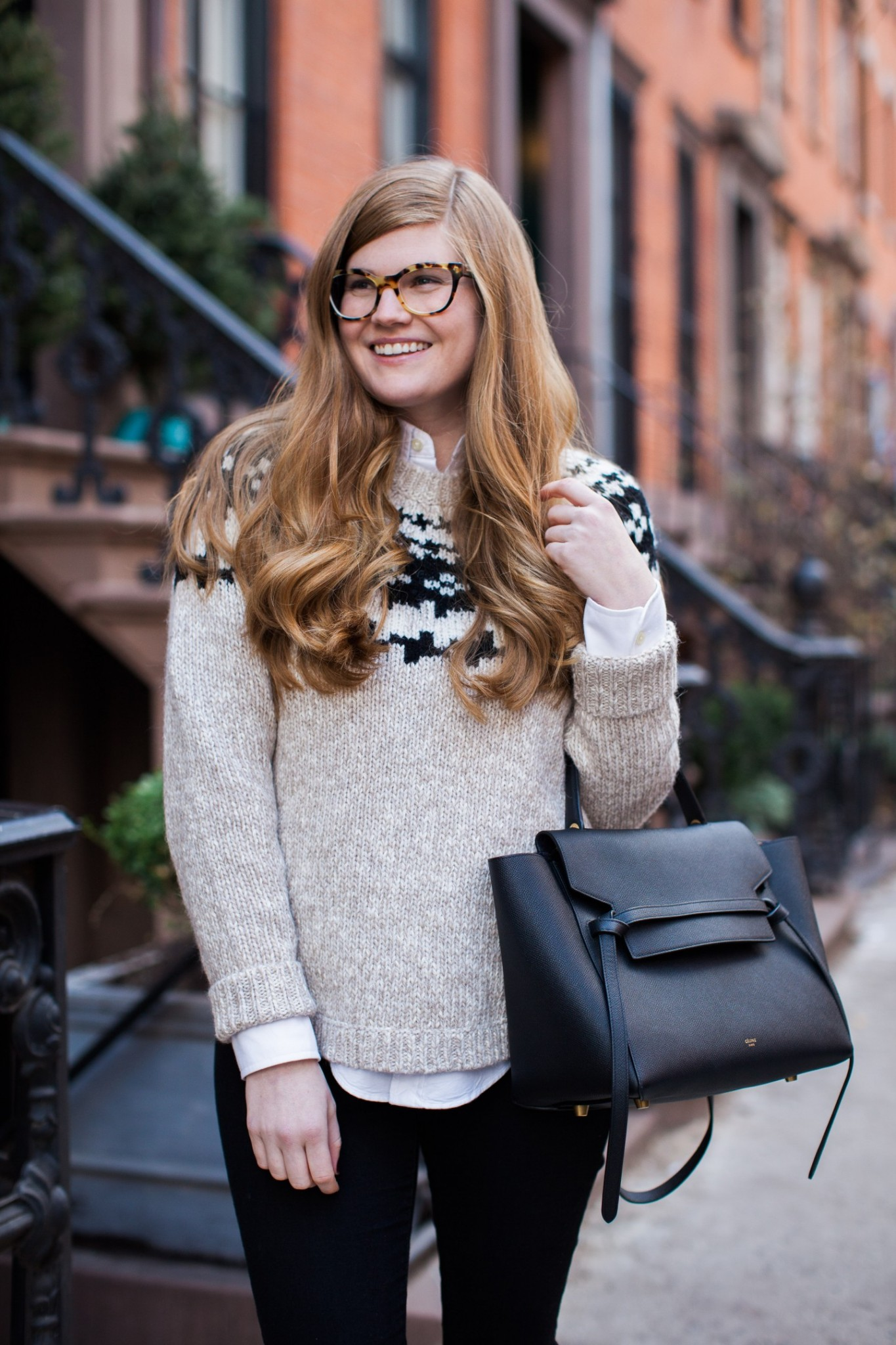 Top London fashion blogger,  Mollie Moore shares her new Havana Prada glasses
