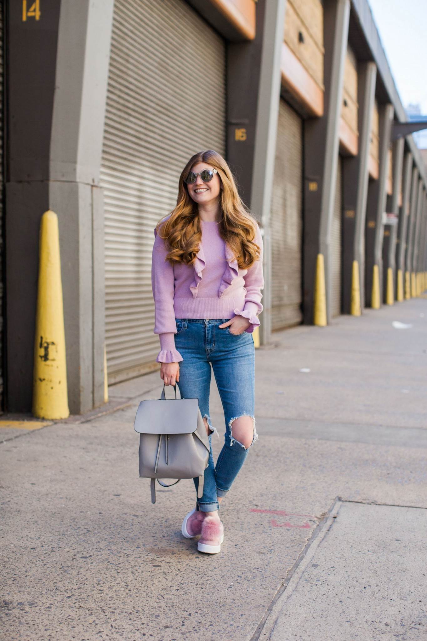 Lifestyle blogger Mollie Sheperdson shares what she wore to Mara Hoffman at NYFW