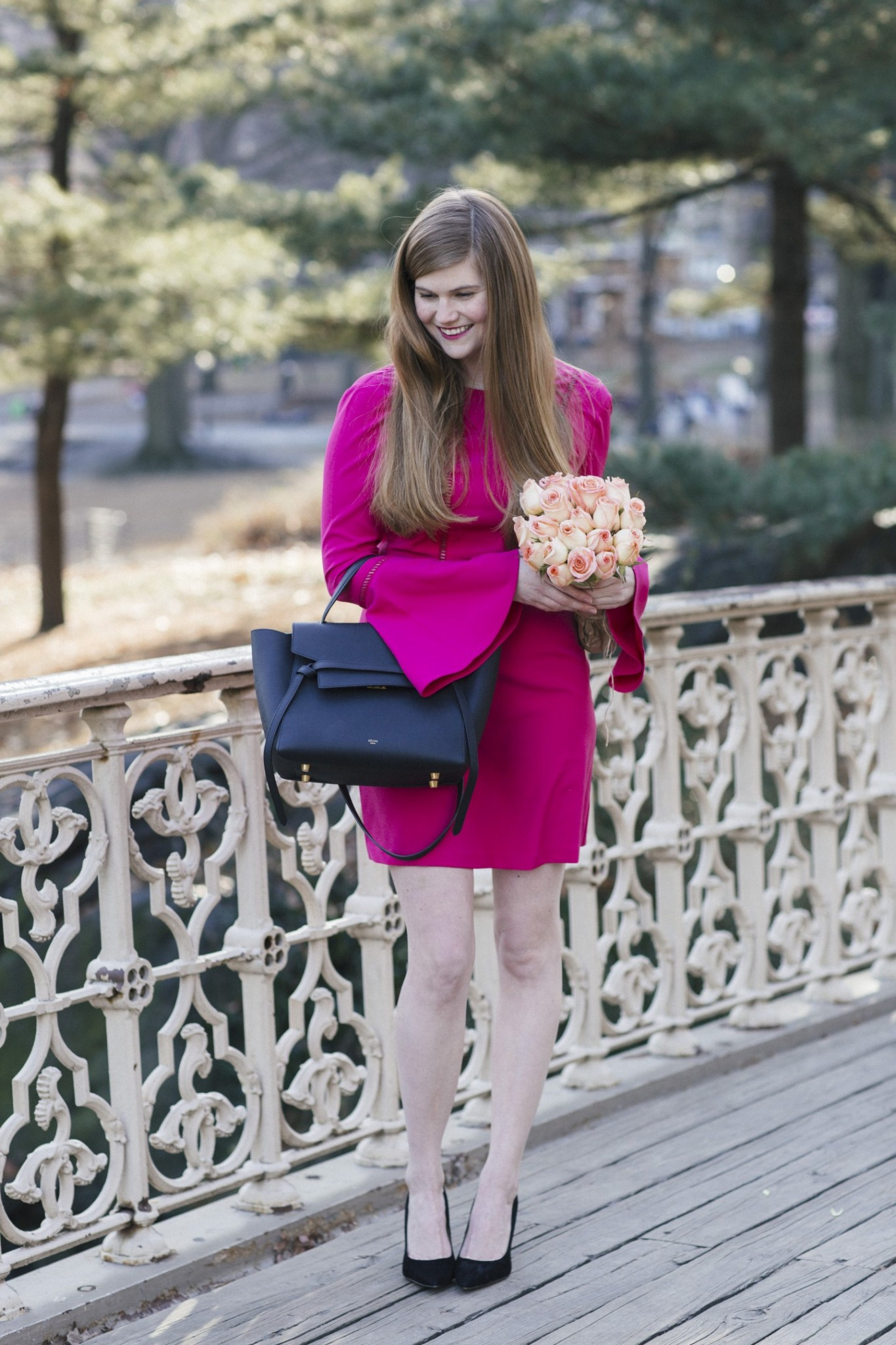 Lifestyle blogger Mollie Sheperdson shares a Valentine's Day date night outfit