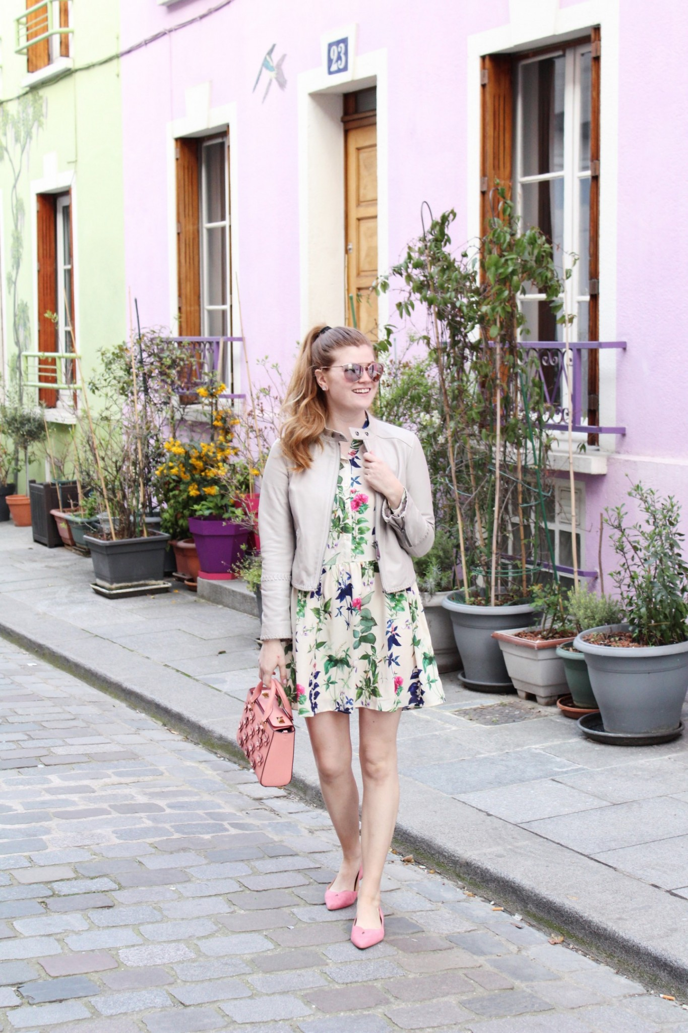 Lifestyle blogger Mollie Sheperdson shares a spring look in Paris