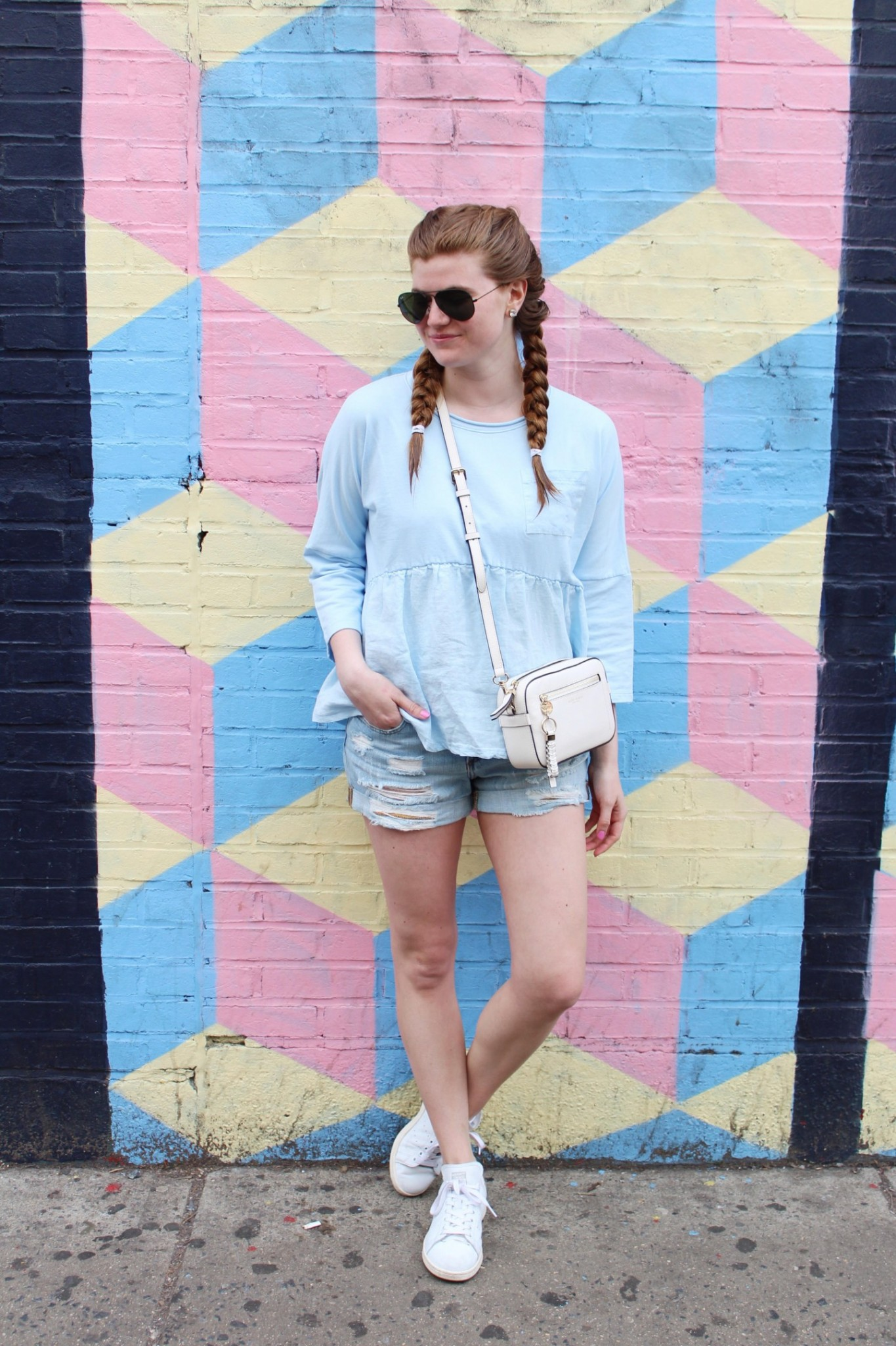 Lifestyle blogger Mollie Sheperdson shares tips on how to wear pastels in summer