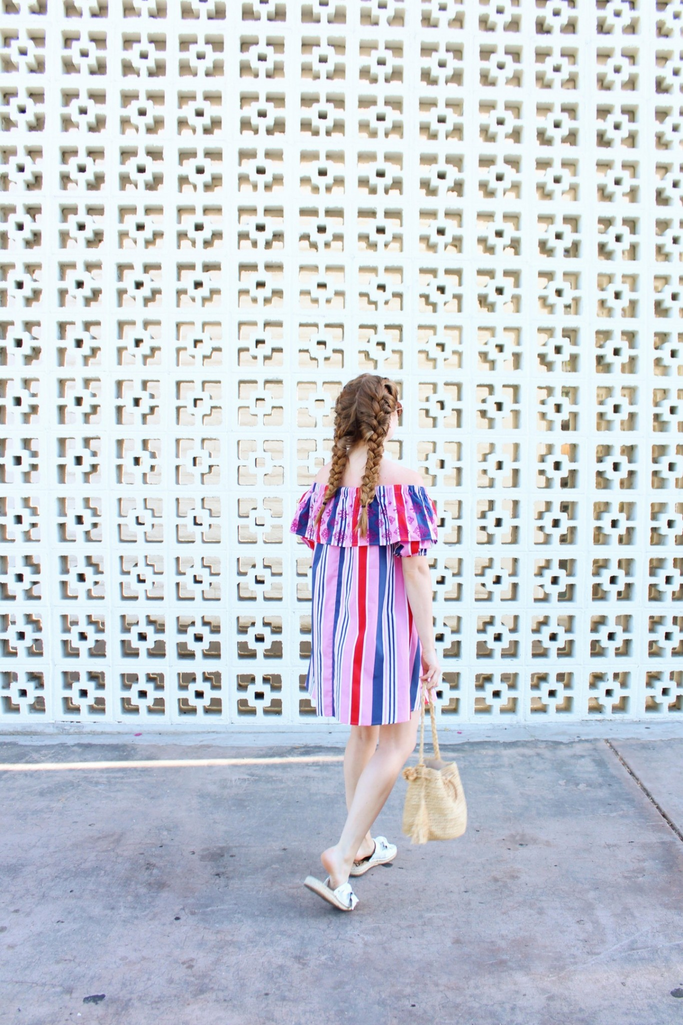 Lifestyle blogger Mollie Sheperdson shares a look styled at The Parker hotel in Palm Springs