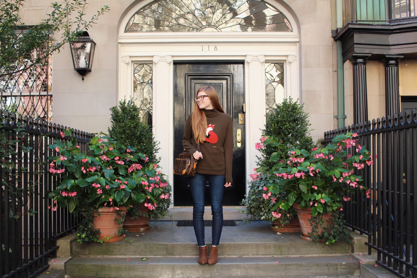 Lifestyle blogger Mollie Moore shares a fall look with Barbour
