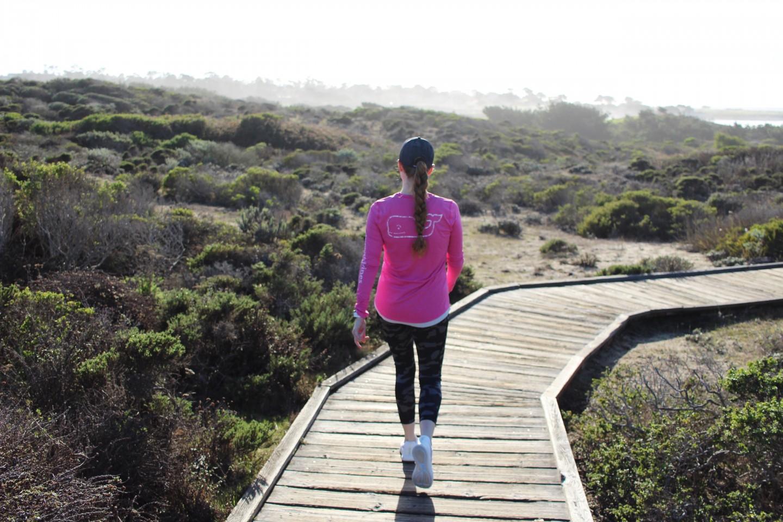 Top London blogger Mollie Moore runs the Vineyard Vines Pebble Beach half marathon
