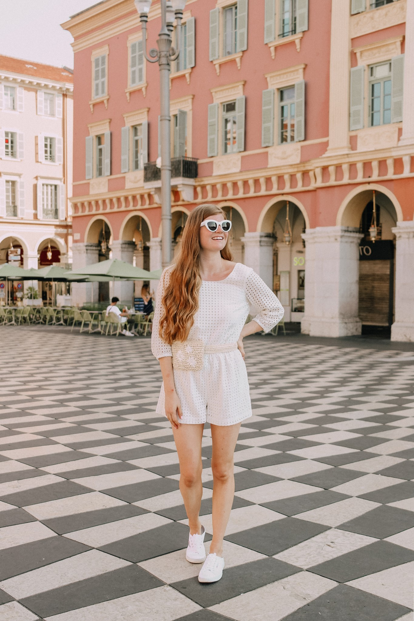 Popular London lifestyle blogger Mollie Moore shares photos from Place Massena Nice