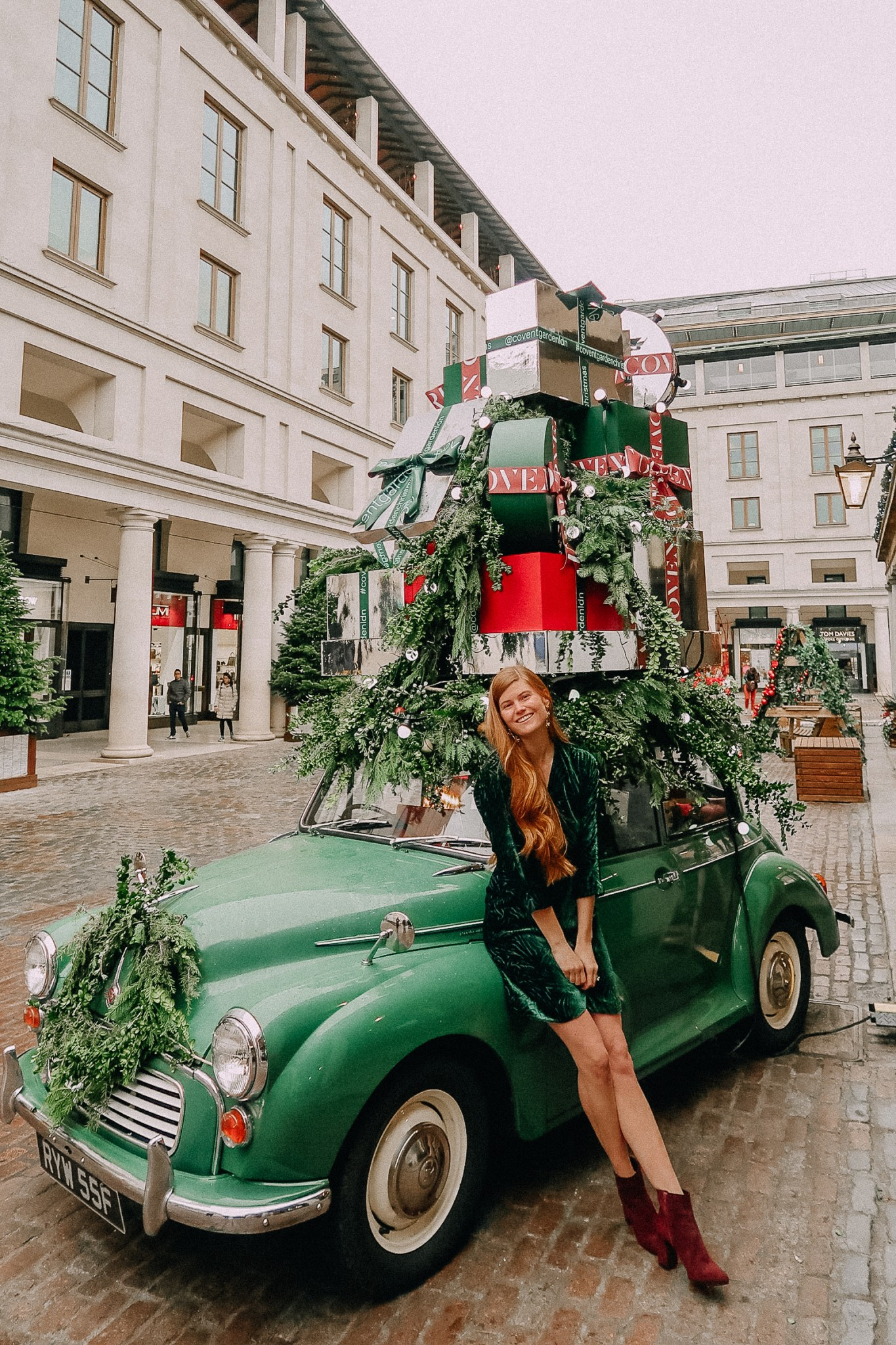 Dresses | Boots | Sequins | Christmas | Holiday Velvet Trend featured by top London fashion blogger Mollie Moore