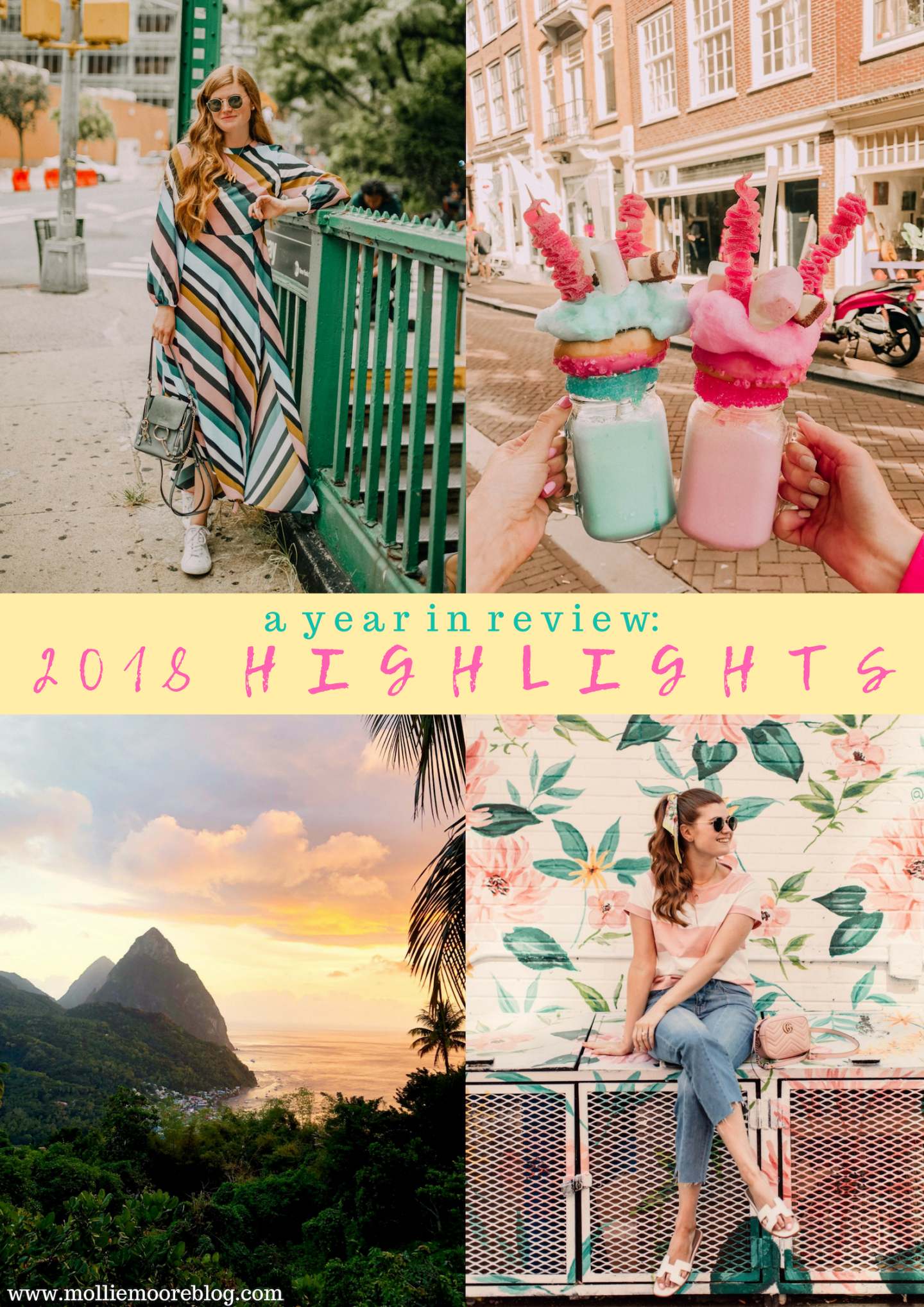 | Top London and US life and style blogger, Mollie Moore shares her 2018 year in review