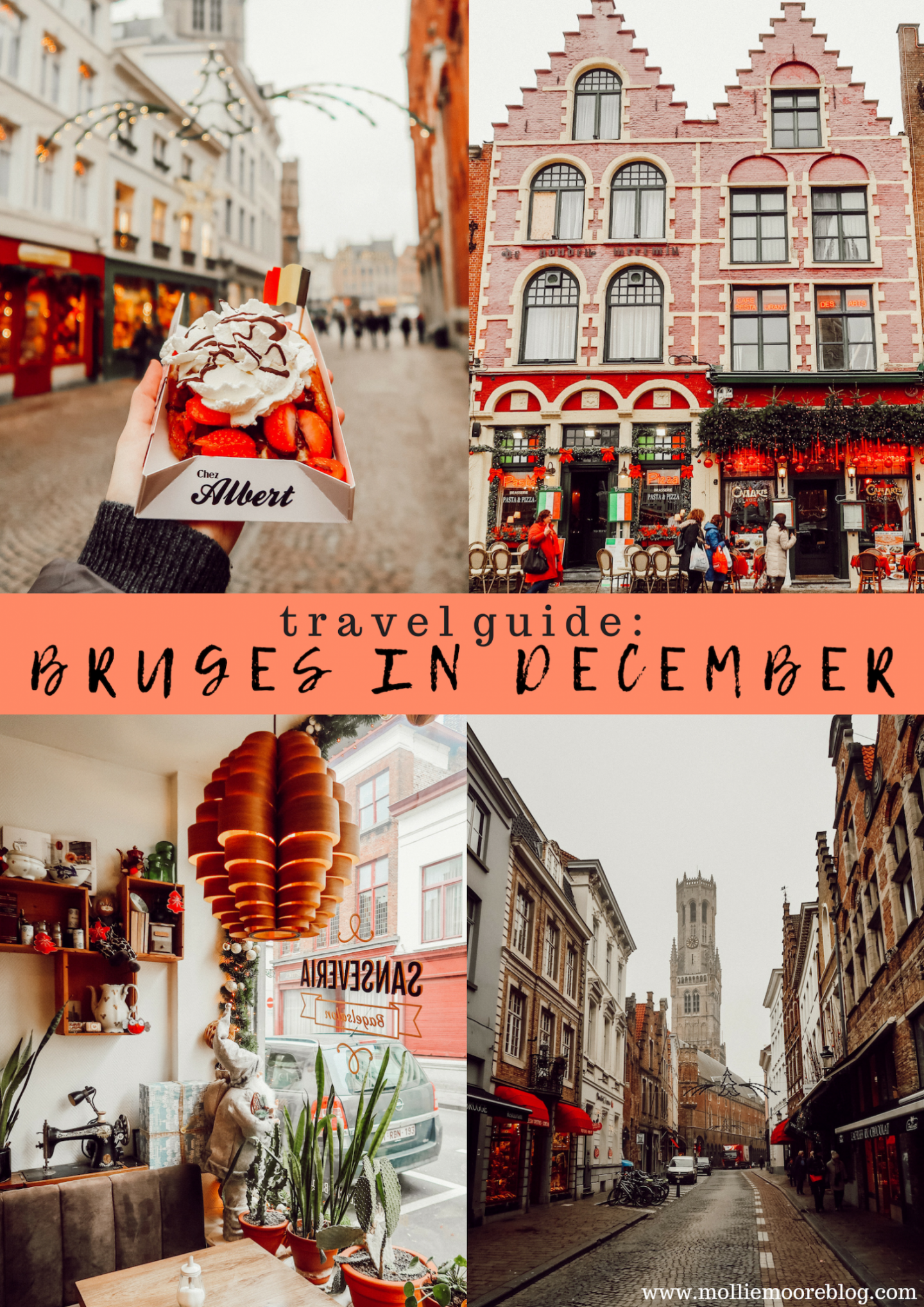 Lifestyle blogger Mollie Moore shares a travel guide for the Bruges Christmas Market
