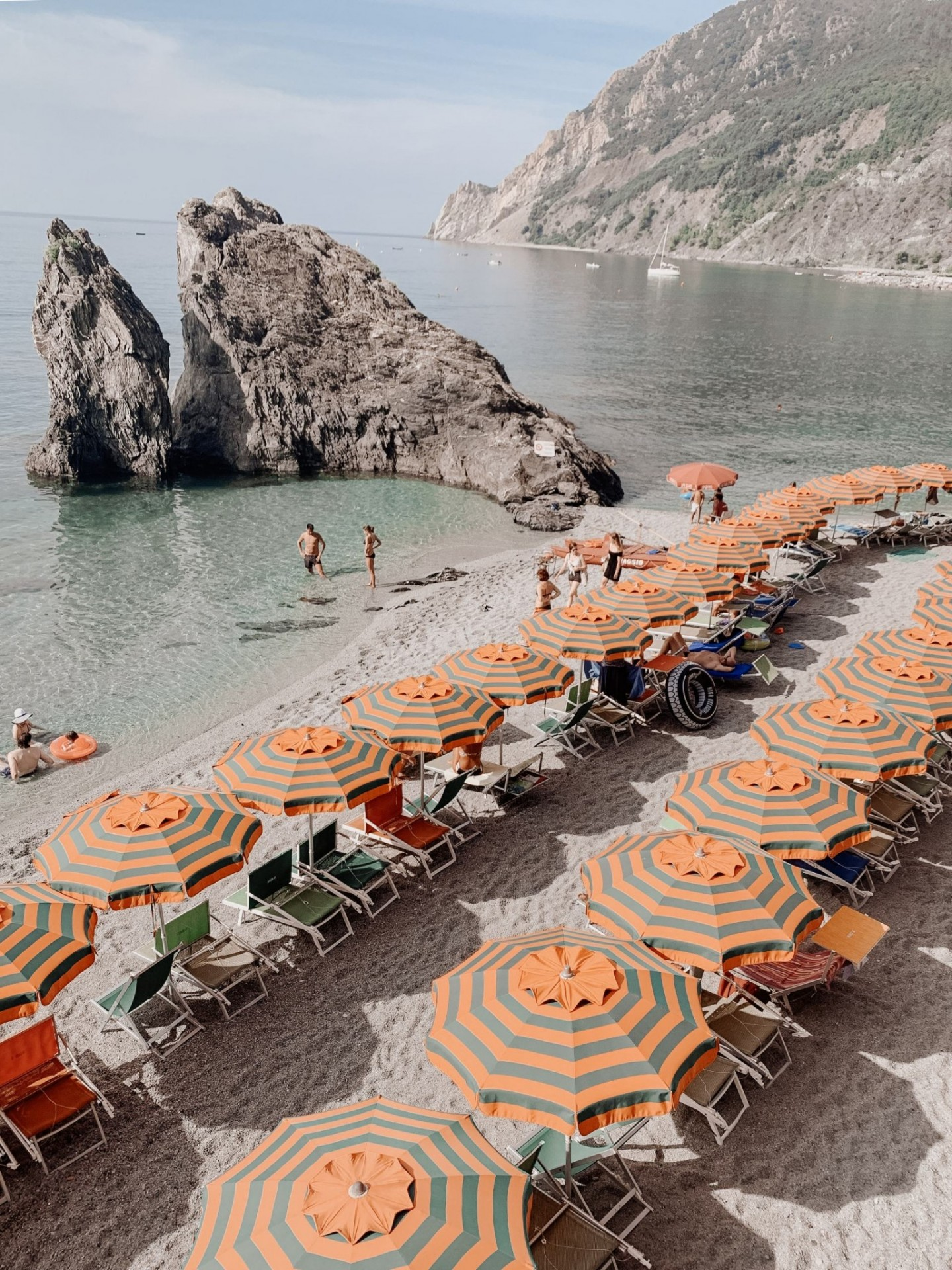 Lifestyle blogger Mollie Moore shares a Cinque Terre travel guide | Travel Guide: Things to do in Cinque Terre, Italy by popular London travel blogger, Mollie Moore: image of a beach at Cinque Terre, Italy.
