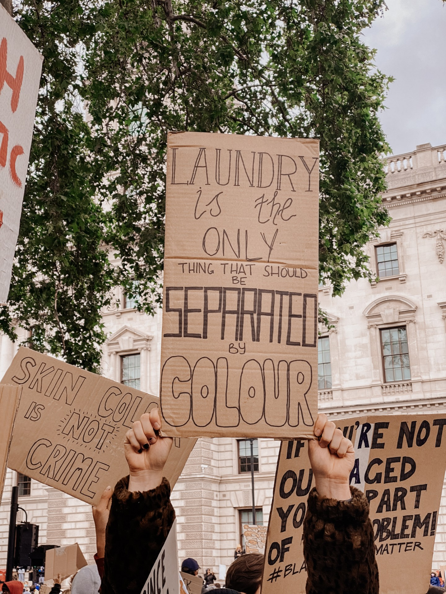 Lifestyle blogger Mollie Moore at the Black Lives Matter protest in London
